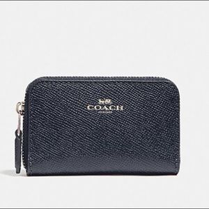 coach zip around coin purse